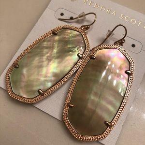 Kendra Scott Danielle Brown iridescent earrings